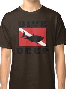 Shark SCUBA Flag Dive Deep Classic T-Shirt