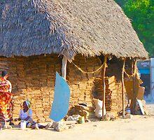 Tatched House at Street in Nairobi, KENYA by Atanas Bozhikov Nasko