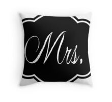Mrs Black and White #1 Throw Pillow