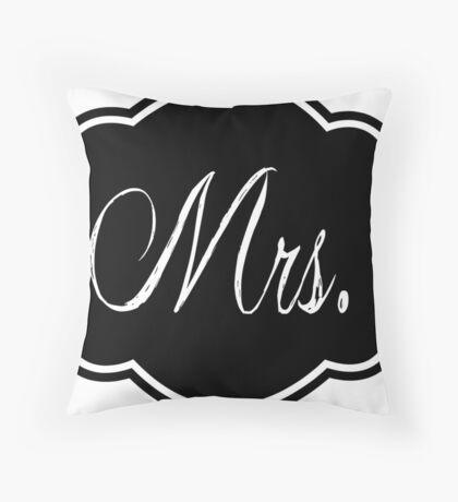 Mrs Black and White #1 Throw Pillow