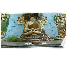 Buddha under Bodhi tree. Poster