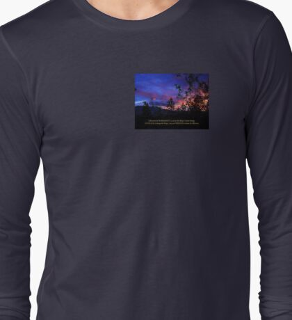 Serenity Prayer Spring Sunrise Long Sleeve T-Shirt