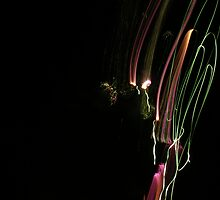 Coloured Light Trails by Lucy Hale