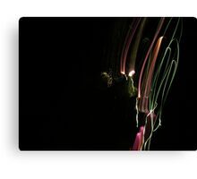 Coloured Light Trails Canvas Print