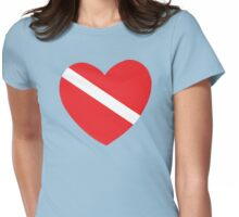 Love SCUBA Womens Fitted T-Shirt