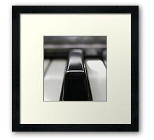 Piano Key Framed Print