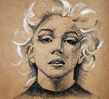 Marilyn ink B&W by CSSART