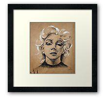 Marilyn ink B&W Framed Print