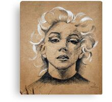 Marilyn ink B&W Canvas Print