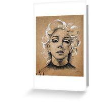 Marilyn ink B&W Greeting Card
