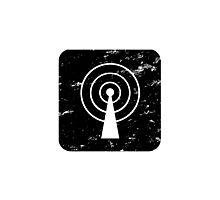 Square-Communications-Black Photographic Print