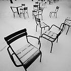 Paris in the snow by Laurent Hunziker