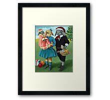 Randolph and Millie - Christmas Greetings animal art Framed Print