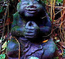 Smiling Buddha. by Amanda Gazidis