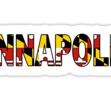 Annapolis Maryland flag word art Sticker