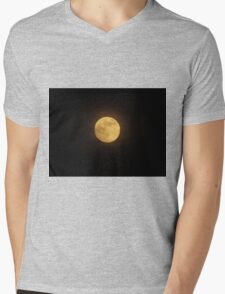 Summer Moon Mens V-Neck T-Shirt