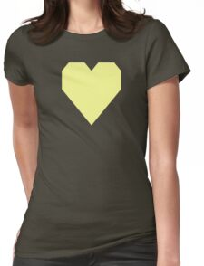 Pastel Yellow Womens Fitted T-Shirt