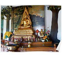 Buddha in Buddhist temple,Bali. Poster