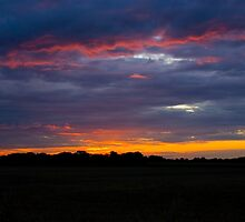 Sunset over Caston by AlanPee