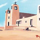 Acoma Pueblo Church, New Mexico Card by Barbara Applegate