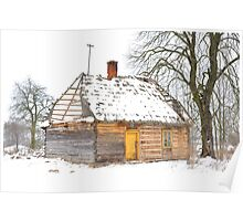 Snow Cottage Poster