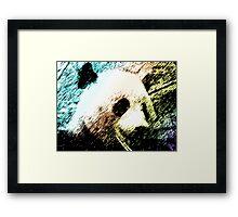 Colorful Panda Framed Print