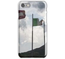 flag in the mountain iPhone Case/Skin