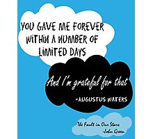 Cute The Fault in Our Stars Poster Photographic Print
