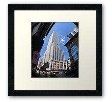 Fisheye View of Empire State Framed Print