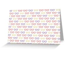 Seamless pattern with retro sunglasses Greeting Card