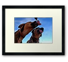 Mmm water time! Framed Print