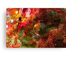 Christmas tree close up. Canvas Print