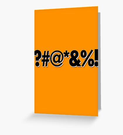 Q*Bert Parody ?#@*&%!  Greeting Card
