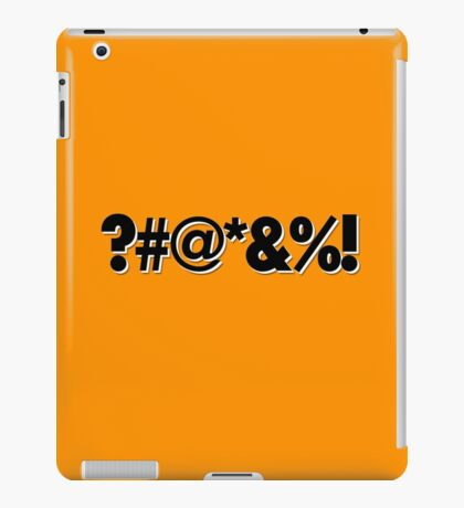 Q*Bert Parody ?#@*&%!  iPad Case/Skin