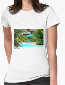 Travellers Club Resort in Mombasa, KENYA Womens Fitted T-Shirt