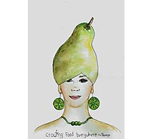Miss Pear- growing food everywhere Photographic Print