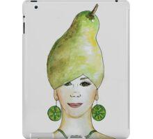 Miss Pear- growing food everywhere iPad Case/Skin