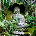 Buddha statue and green by Amanda Gazidis