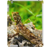 Colourful lizard in Nairobi Safari Park, KENYA  iPad Case/Skin
