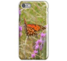 August Surprise in a Meadow - Gulf Fritillary iPhone Case/Skin