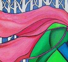 My Pink Scarf by Deborah Glasgow