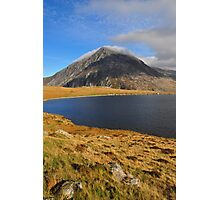 Pen Yr Ole Wen from Llyn Idwal, Snowdonia Photographic Print