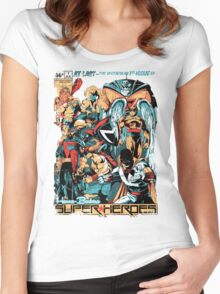 HANNA-BARBERA SUPER HEROES OLD Women's Fitted Scoop T-Shirt