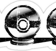 Pokemon - 3 Pokéballs Graffiti (Black) Sticker