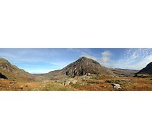 Cwm Idwal Panorama Photographic Print