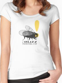 Thinker fly, I buzz therefore I am Women's Fitted Scoop T-Shirt
