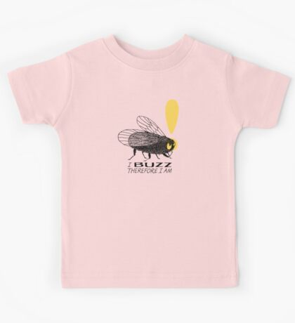 Thinker fly, I buzz therefore I am Kids Clothes