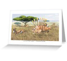 Ocean Invasion #9: Lionfish 1, Springbok 0 Greeting Card