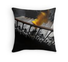 Stairs with Yellow Coat Throw Pillow