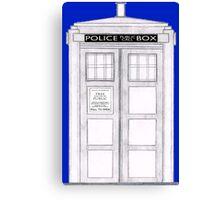 Police Box Canvas Print